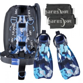 MARES BLUE BATTLE BACKMOUNT SET-PRO