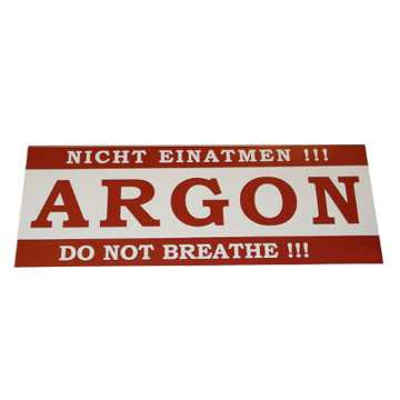 AUFKLEBER ARGON