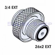 3/4 EXT - 26x2 EXT