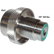 "26x2 INT 200 BAR - 5/8"" DIN EXT. 300 BAR"
