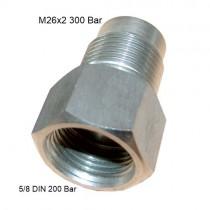 ADAPTER 26x2 300 BAR - DIN 5/8 200 BAR